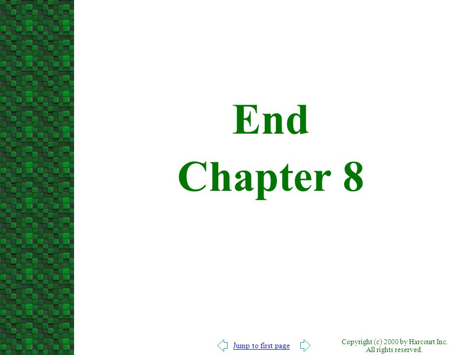 End Chapter 8