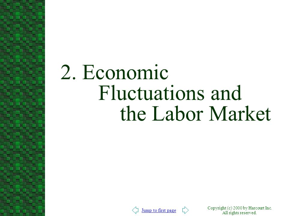 2. Economic Fluctuations and the Labor Market