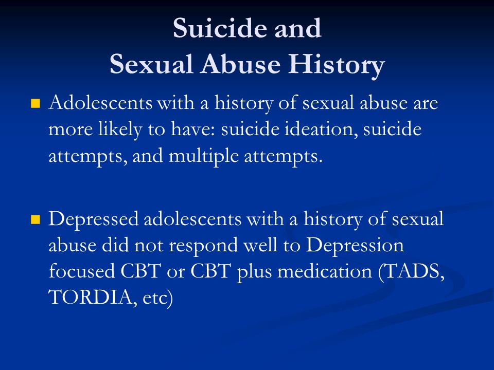 Suicide and Sexual Abuse History