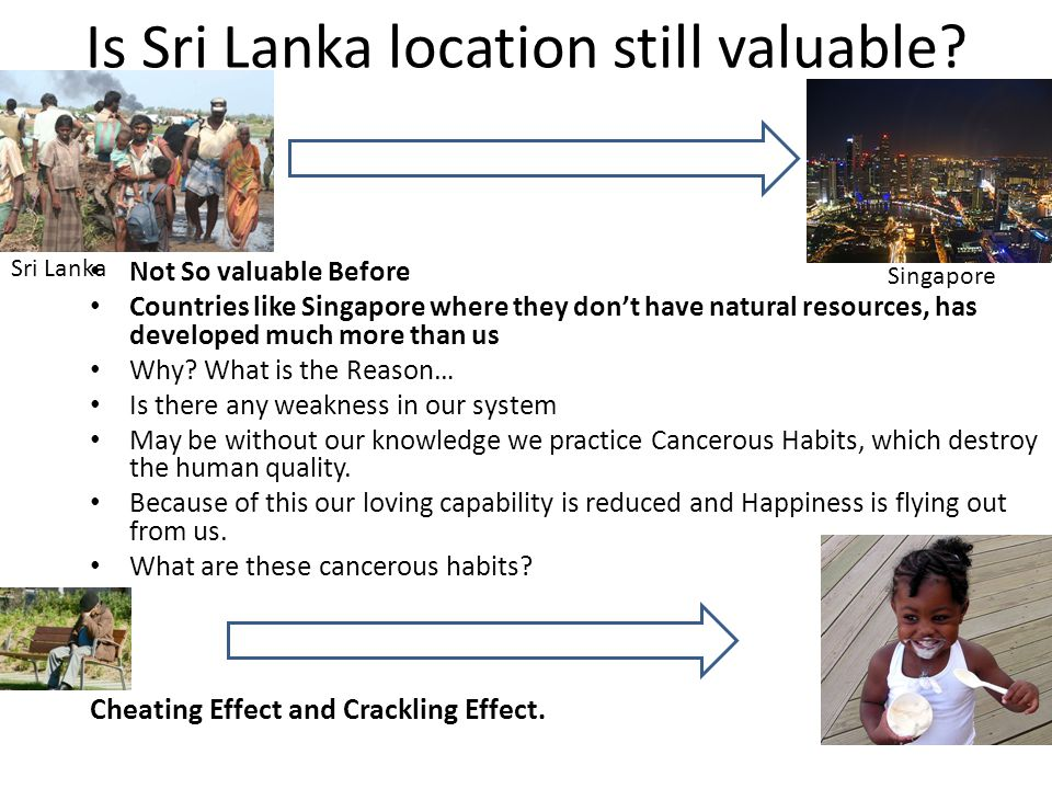 Is Sri Lanka location still valuable