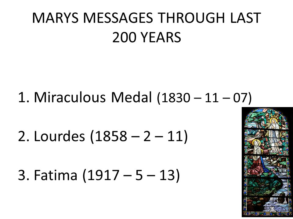MARYS MESSAGES THROUGH LAST 200 YEARS