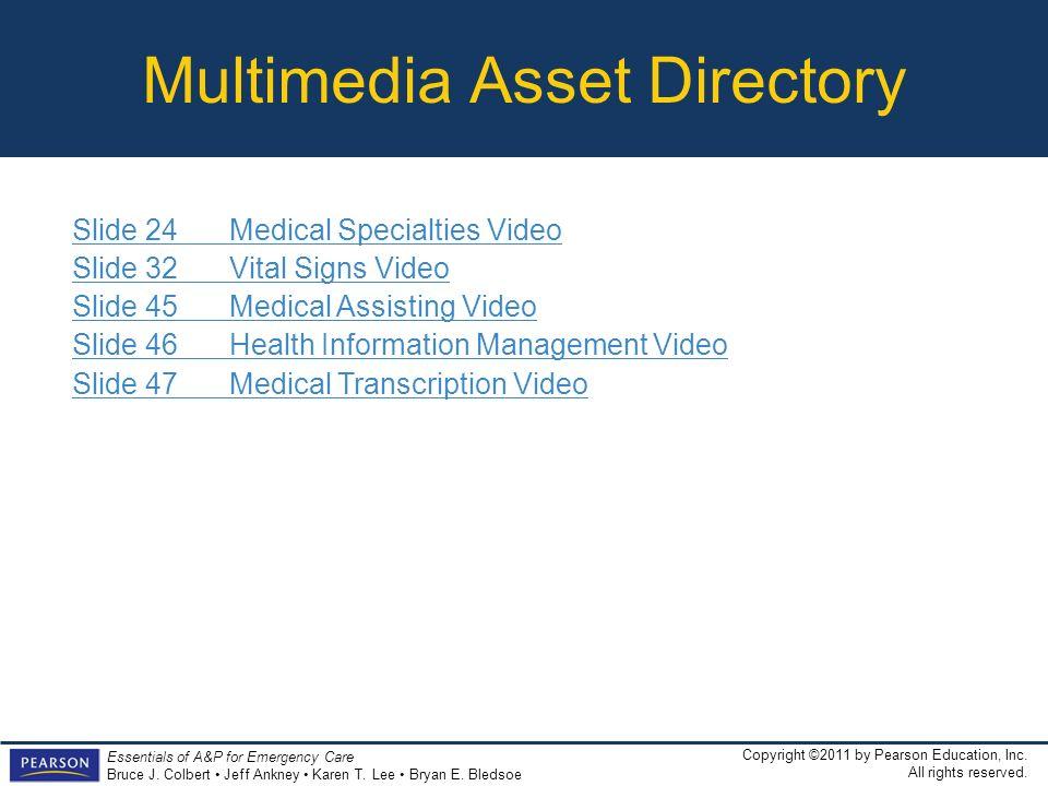 Multimedia Asset Directory