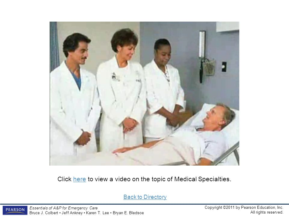 Click here to view a video on the topic of Medical Specialties.