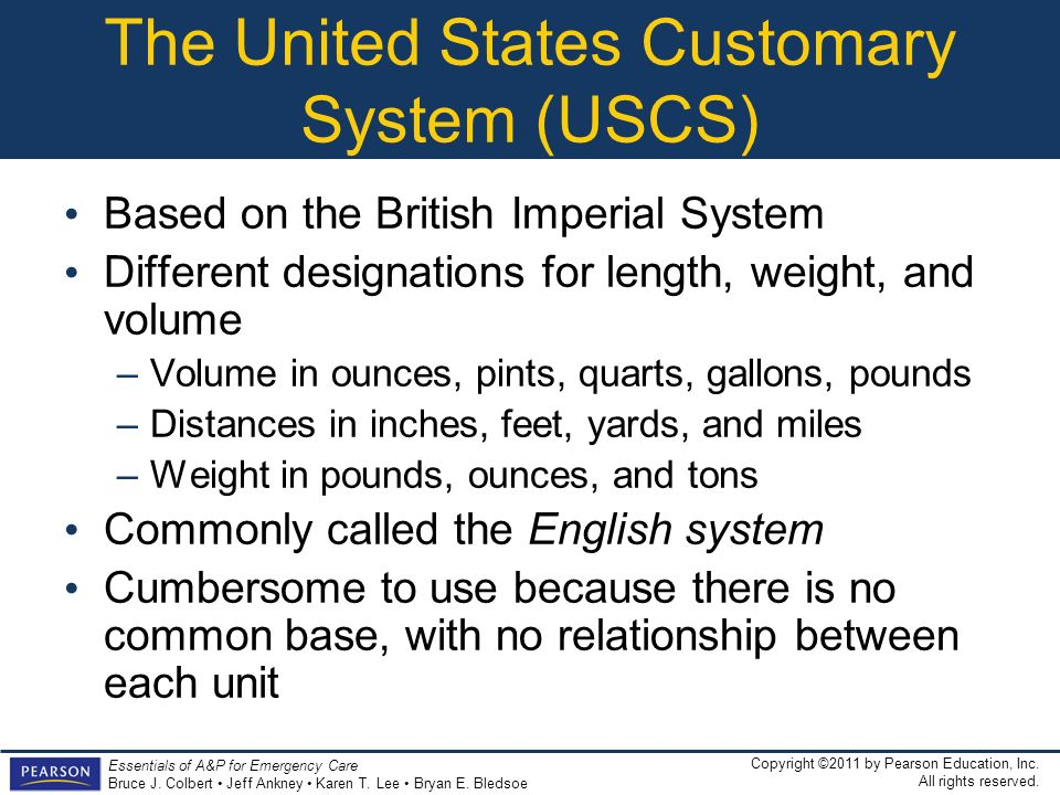 The United States Customary System (USCS)