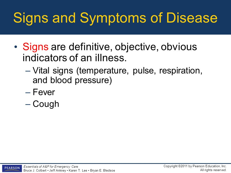 Signs and Symptoms of Disease