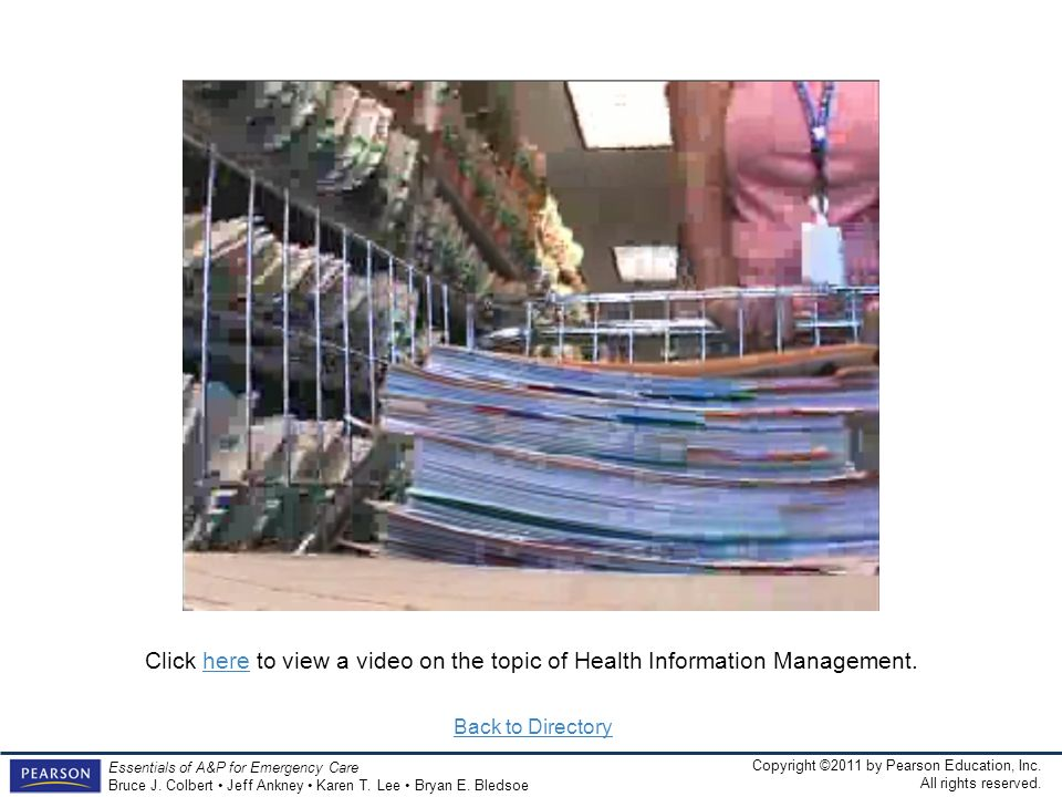 Click here to view a video on the topic of Health Information Management.