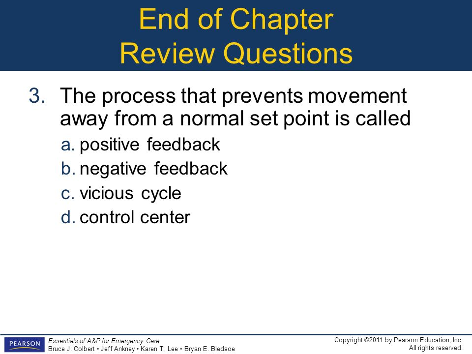 End of Chapter Review Questions