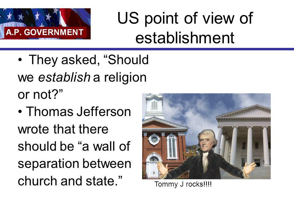US point of view of establishment