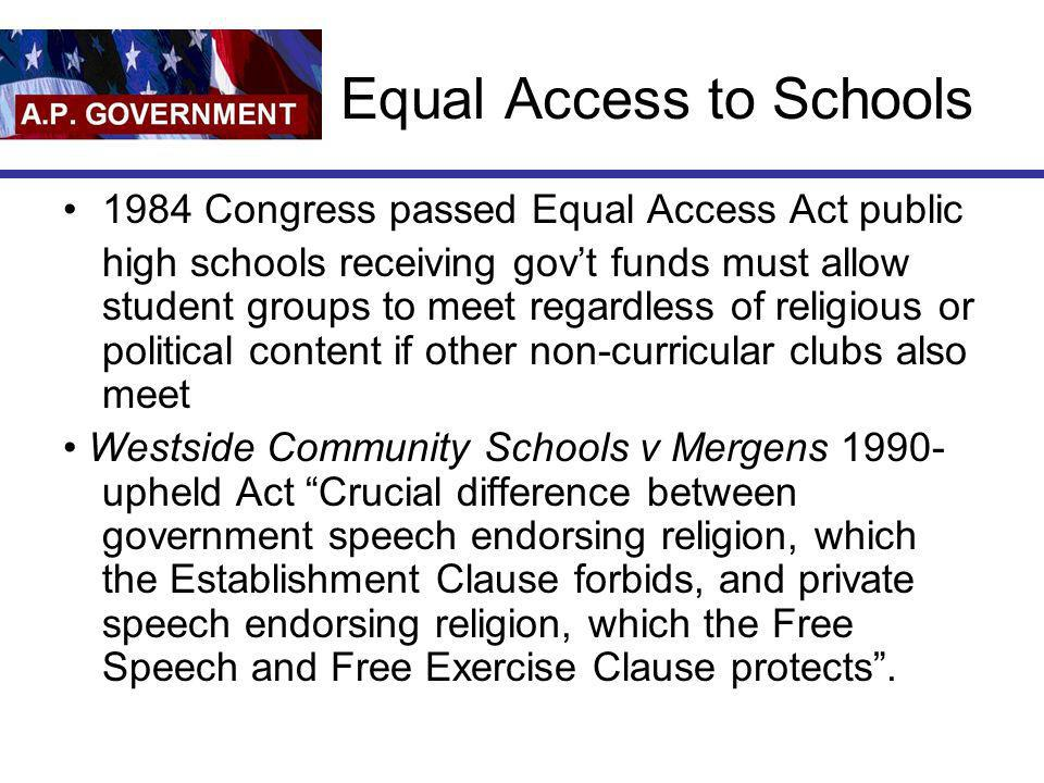 Equal Access to Schools