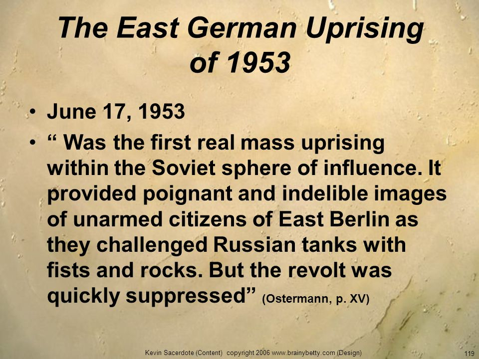 The East German Uprising of 1953