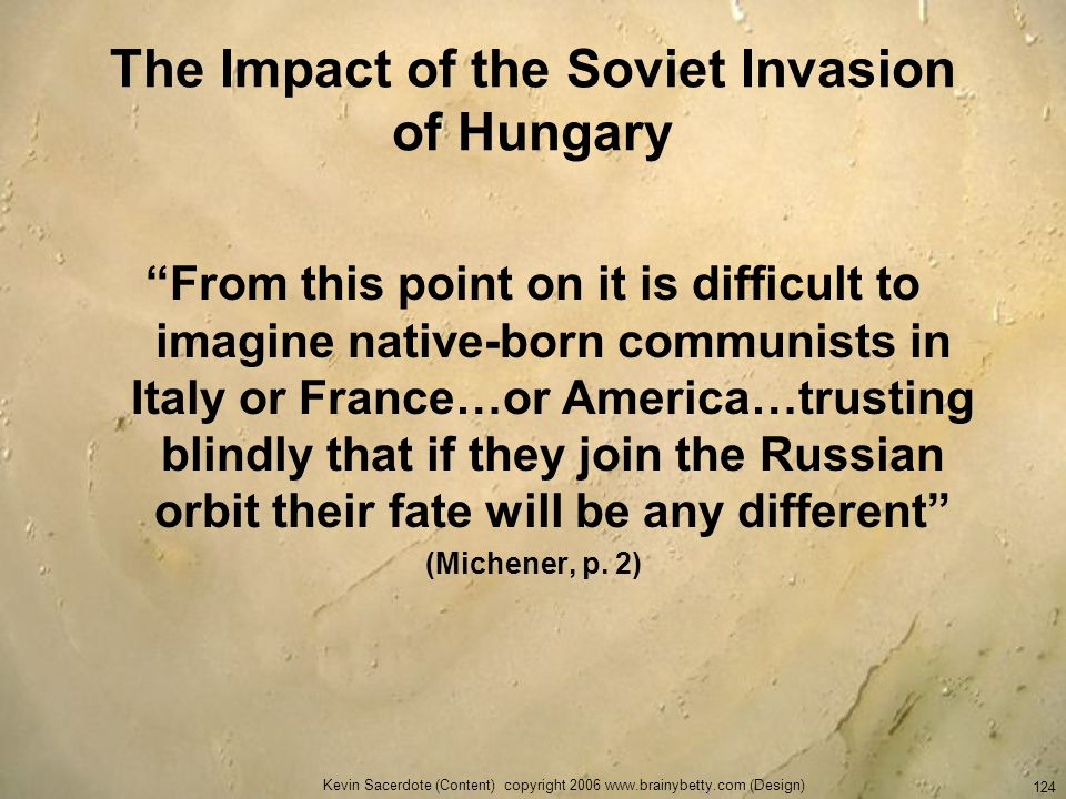 The Impact of the Soviet Invasion of Hungary
