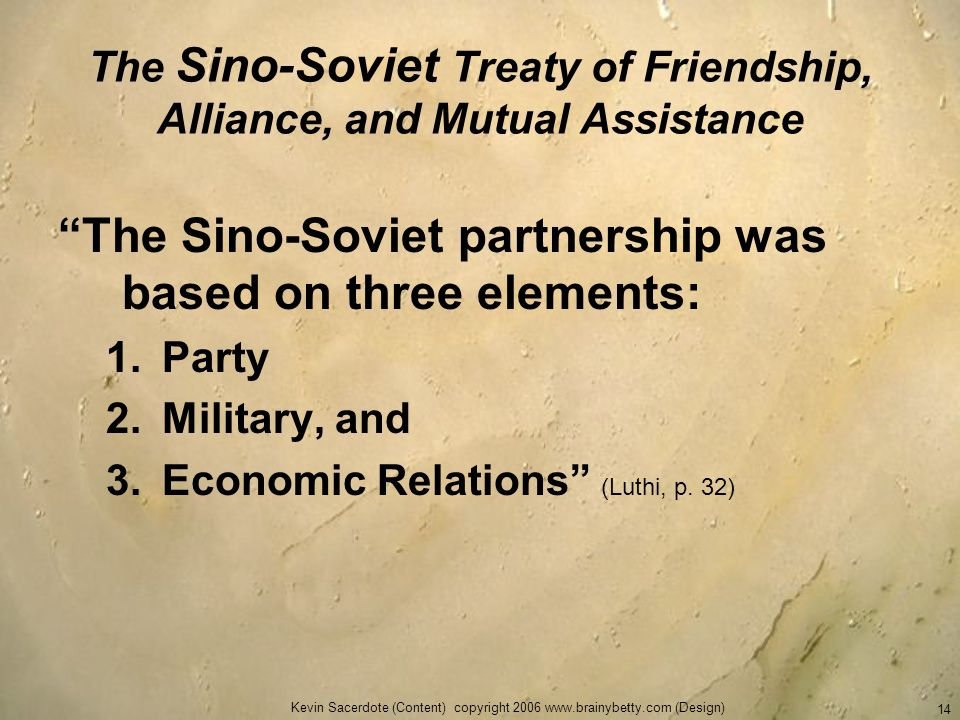 The Sino-Soviet Treaty of Friendship, Alliance, and Mutual Assistance