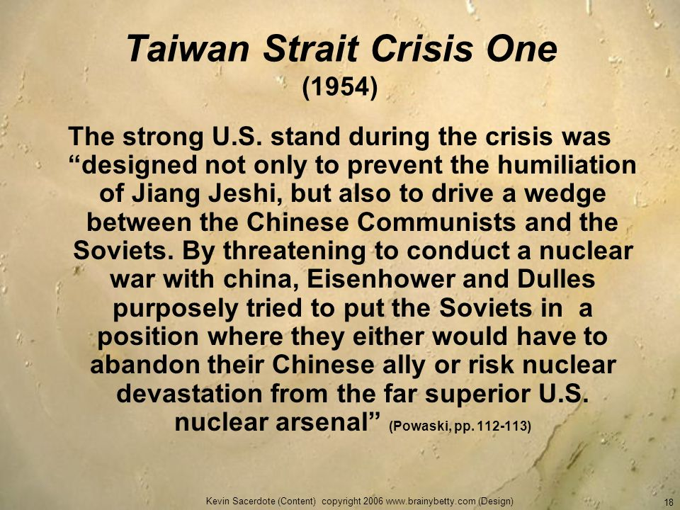 Taiwan Strait Crisis One (1954)