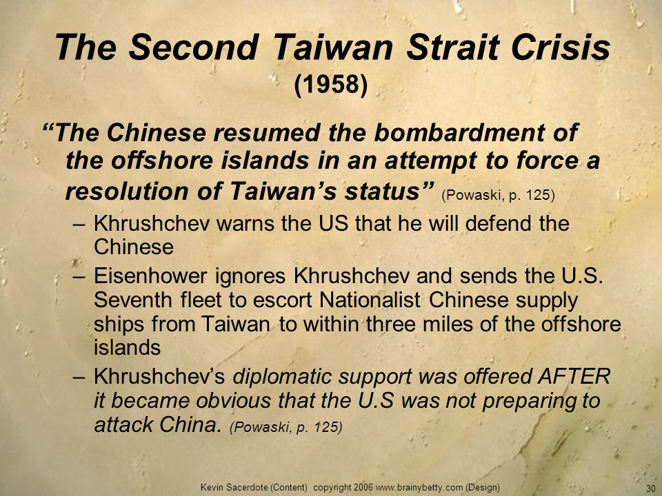 The Second Taiwan Strait Crisis (1958)
