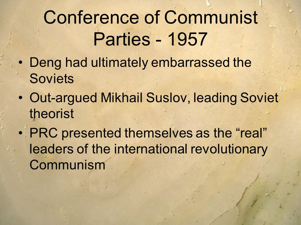 Conference of Communist Parties - 1957