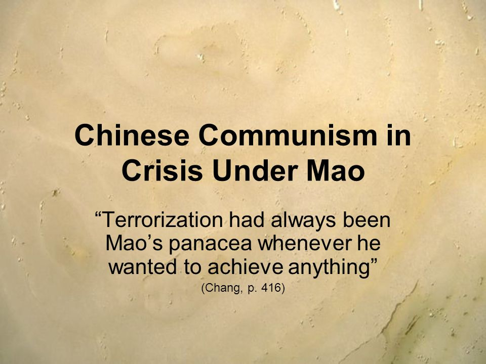 Chinese Communism in Crisis Under Mao