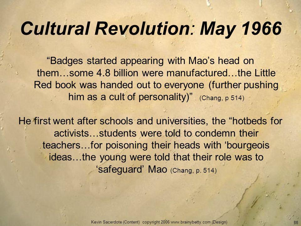 Cultural Revolution: May 1966