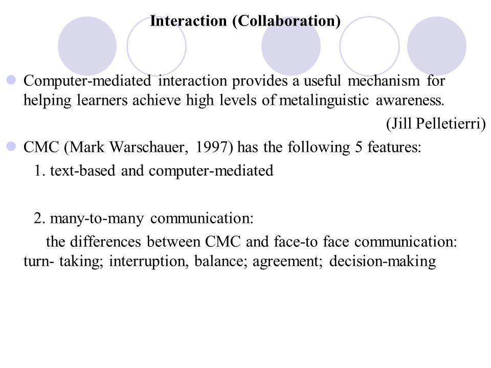 Interaction (Collaboration)
