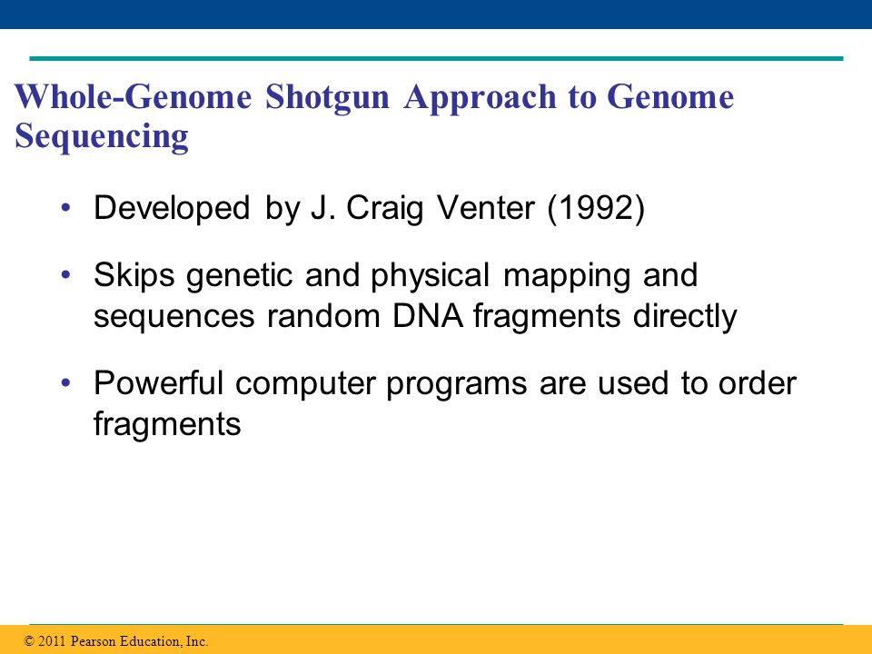 Whole-Genome Shotgun Approach to Genome Sequencing