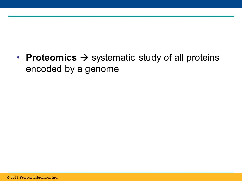 Proteomics  systematic study of all proteins encoded by a genome