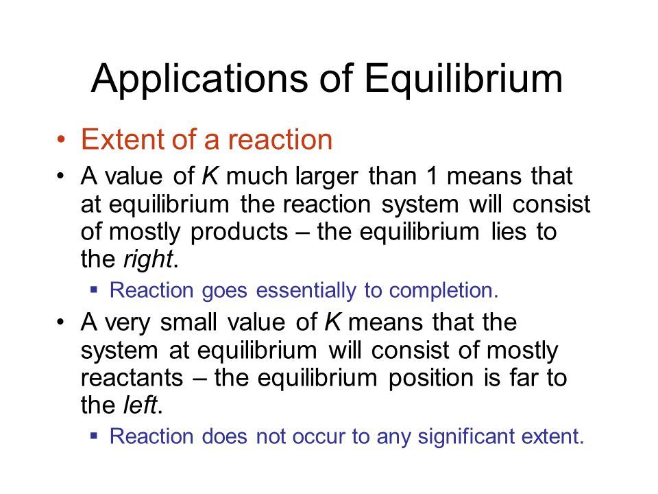 Applications of Equilibrium