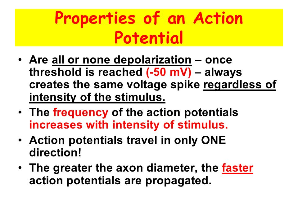 Properties of an Action Potential