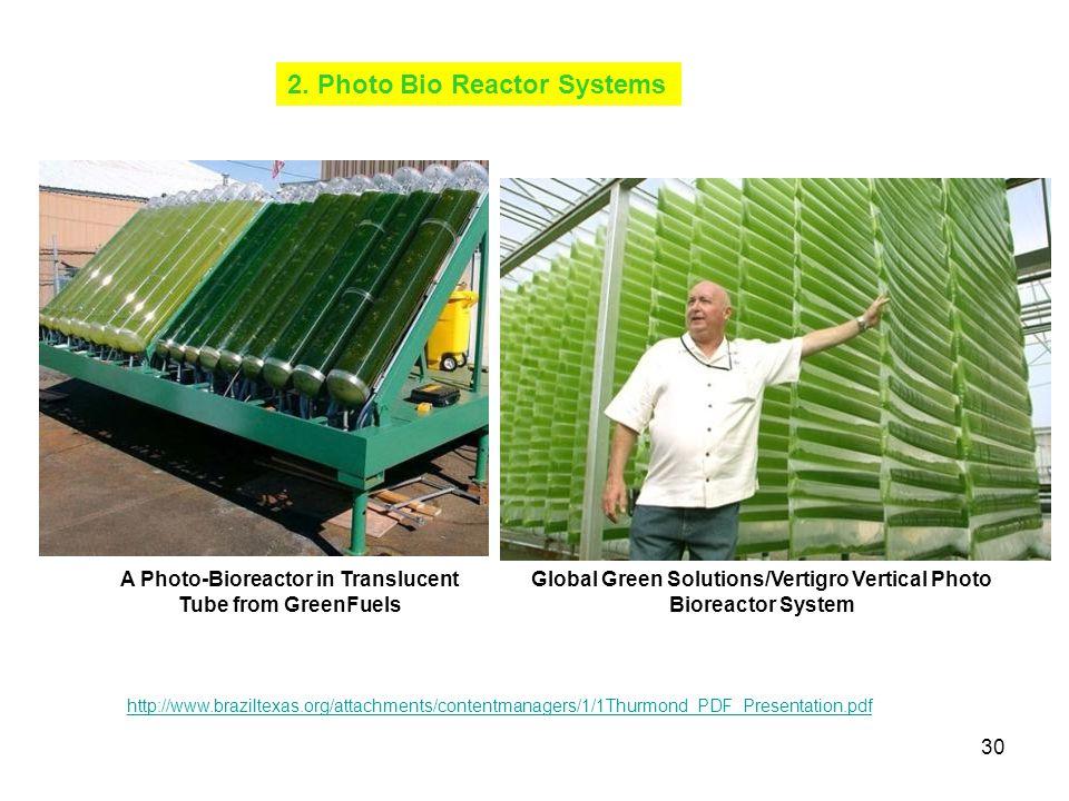 2. Photo Bio Reactor Systems