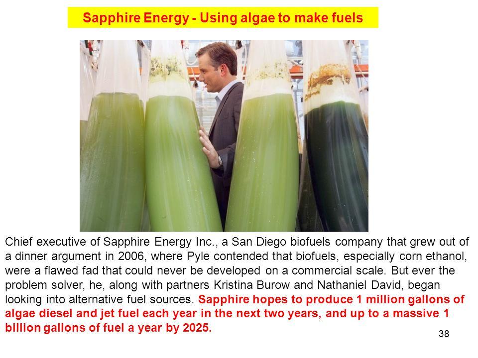 Sapphire Energy - Using algae to make fuels