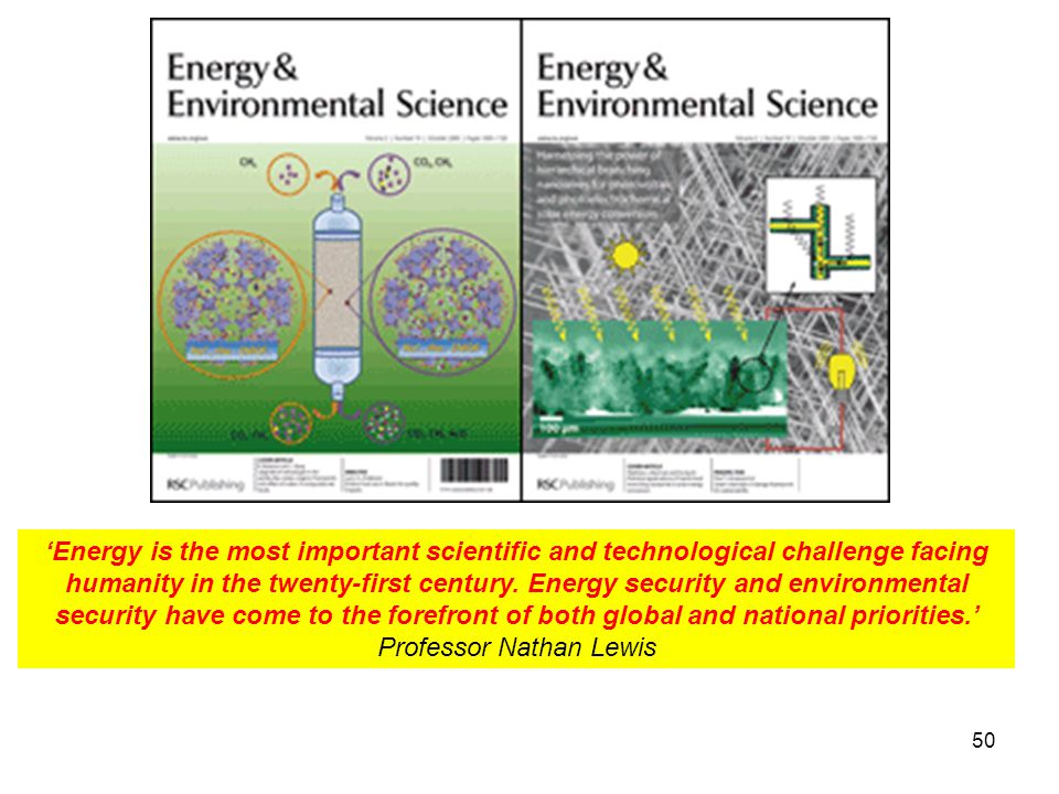 'Energy is the most important scientific and technological challenge facing humanity in the twenty-first century.