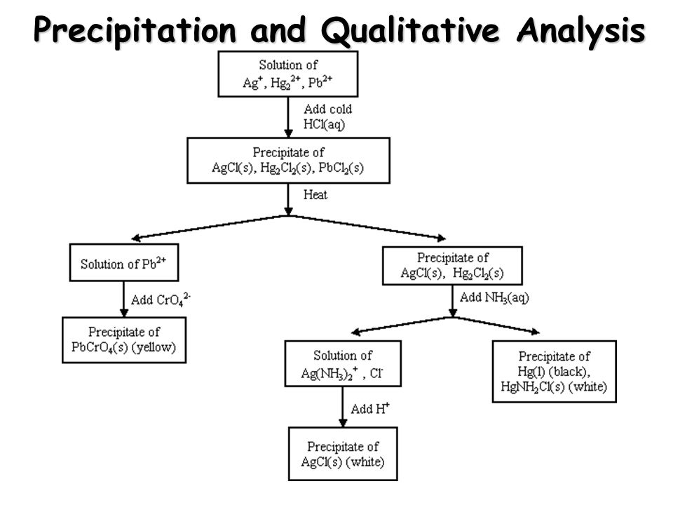 Precipitation and Qualitative Analysis