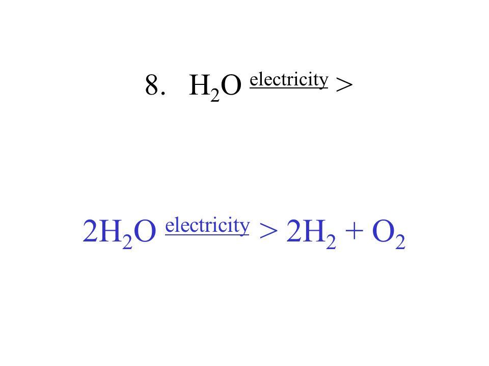 2H2O electricity > 2H2 + O2