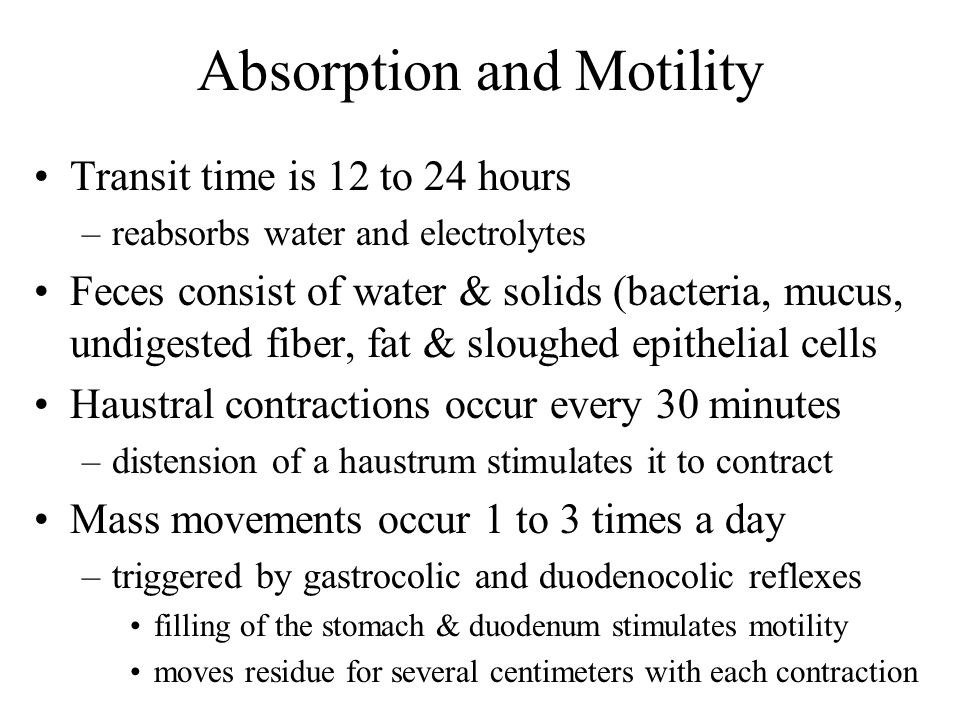 Absorption and Motility
