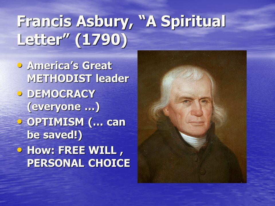Francis Asbury, A Spiritual Letter (1790)