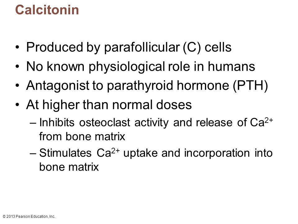 Produced by parafollicular (C) cells
