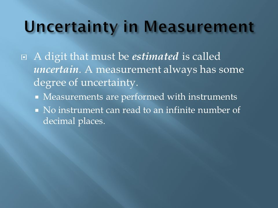 Uncertainty in Measurement