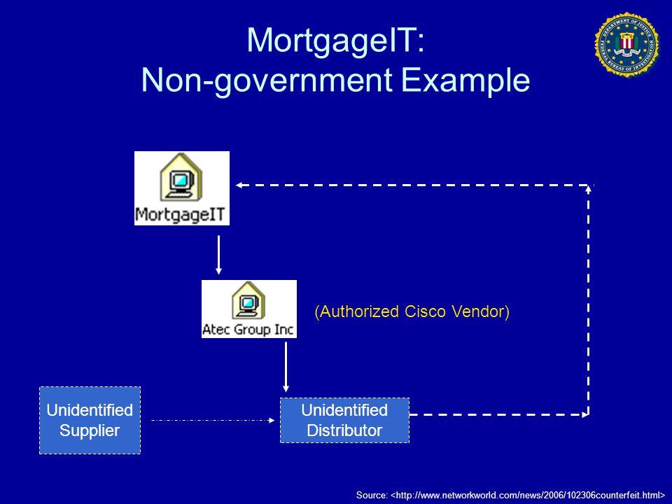 MortgageIT: Non-government Example