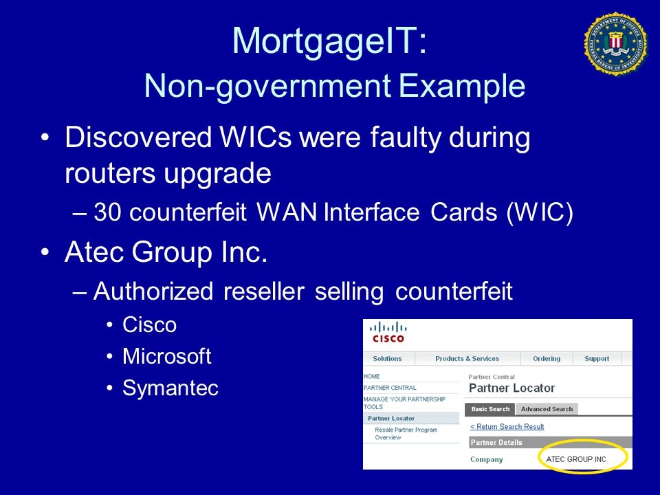 MortgageIT: Non-government Example