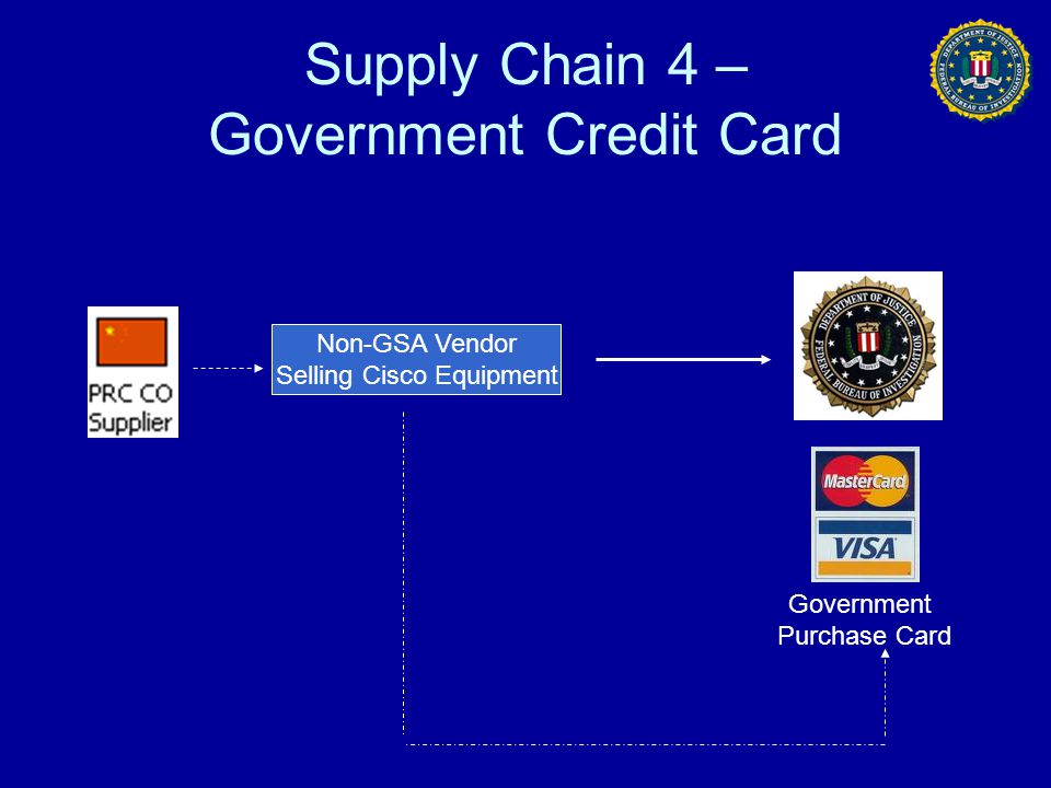 Supply Chain 4 – Government Credit Card