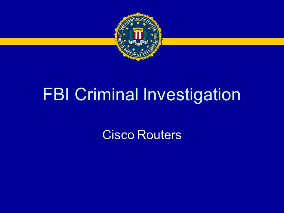 FBI Criminal Investigation