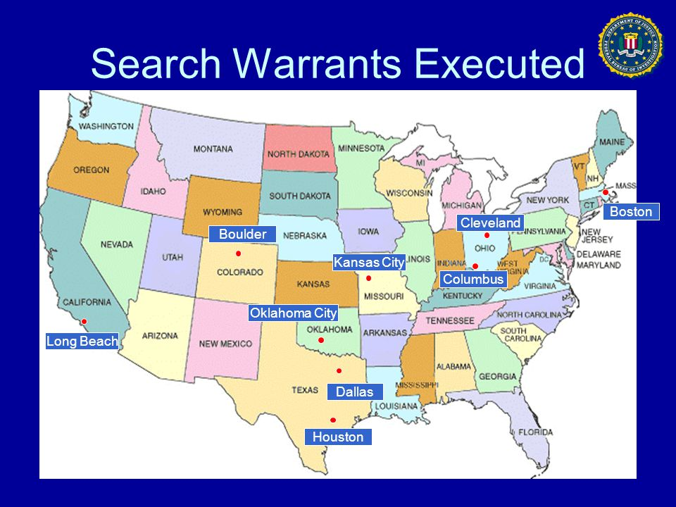 Search Warrants Executed