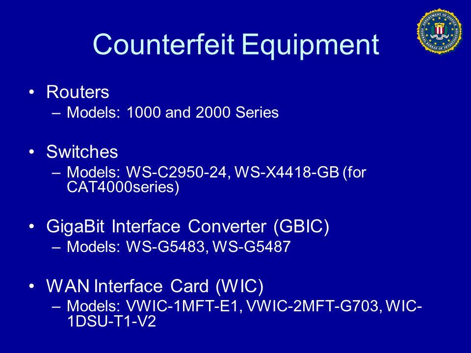 Counterfeit Equipment