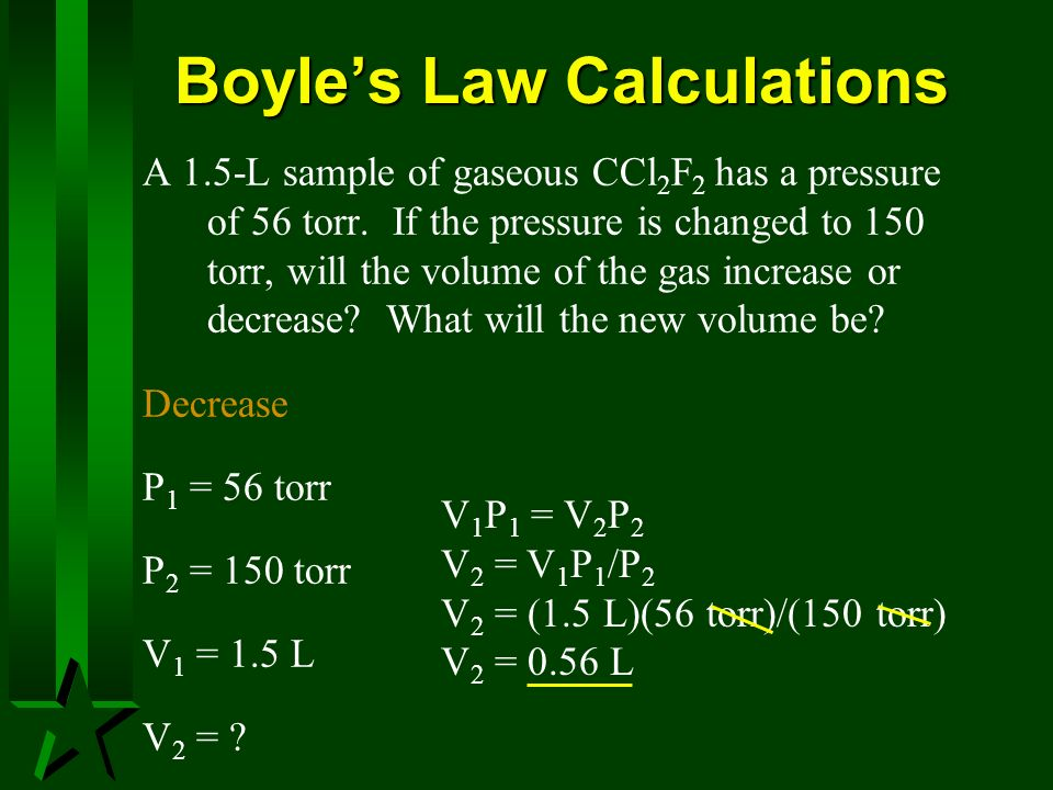 Boyle's Law Calculations