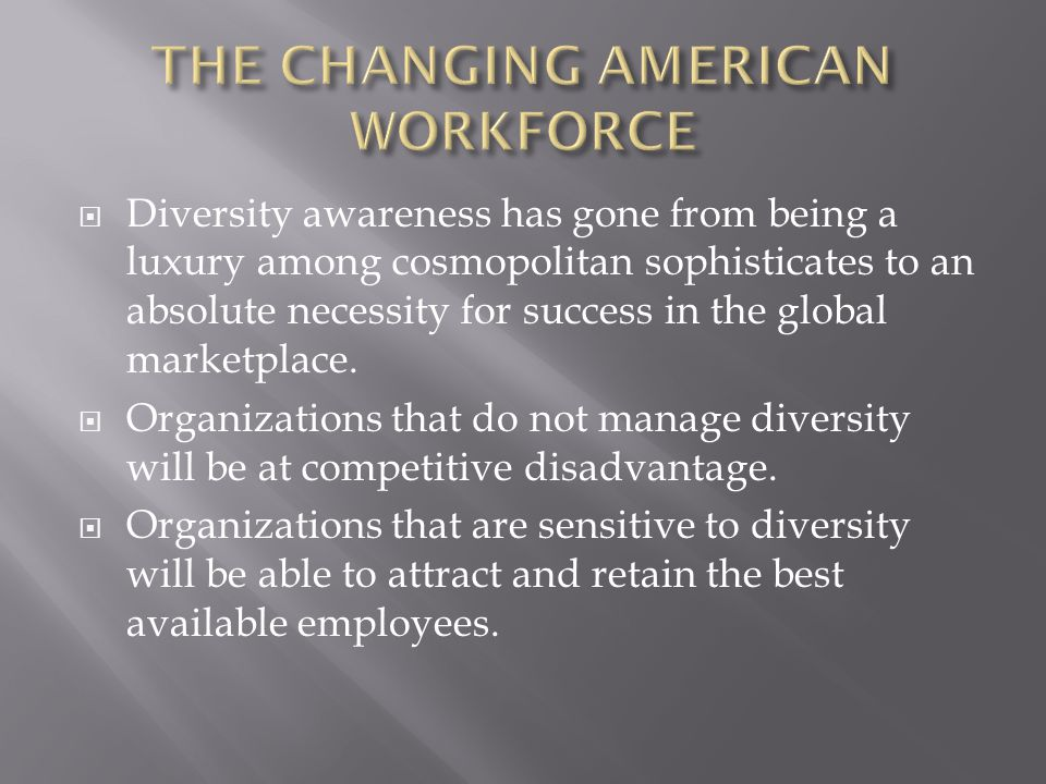 Introduction to Organizational Diversity