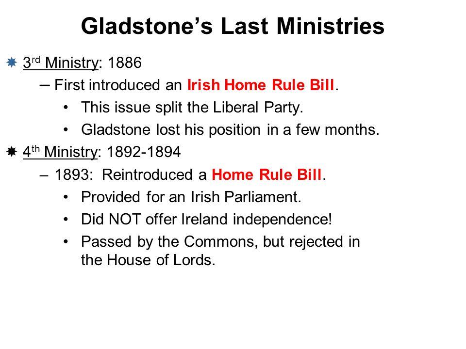 Gladstone's Last Ministries