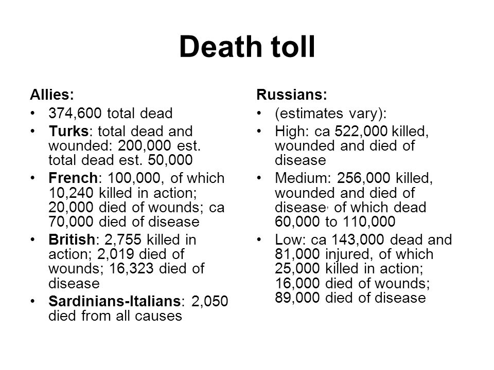 Death toll Allies: 374,600 total dead