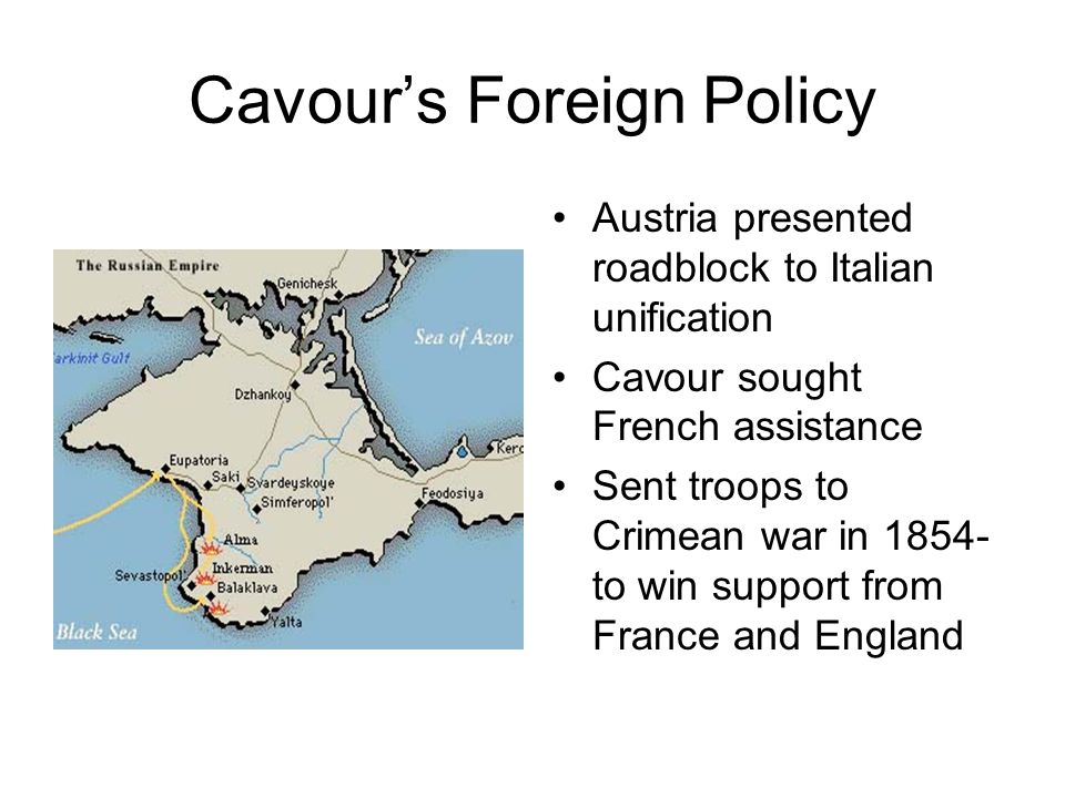 Cavour's Foreign Policy