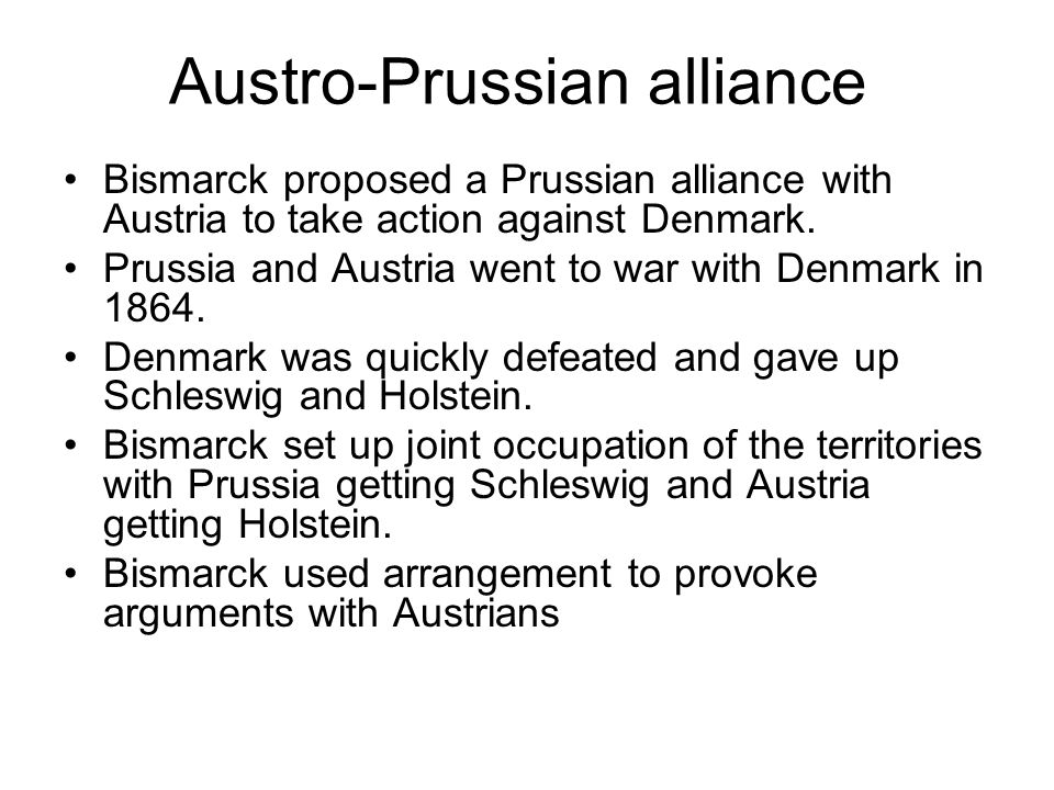 Austro-Prussian alliance
