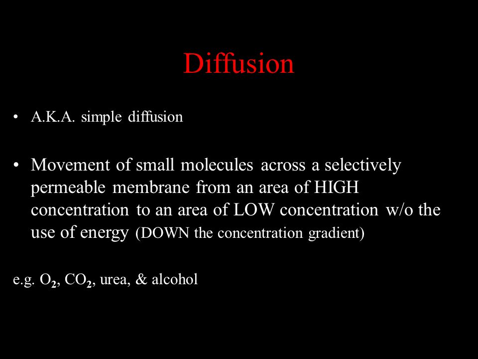 Diffusion A.K.A. simple diffusion.