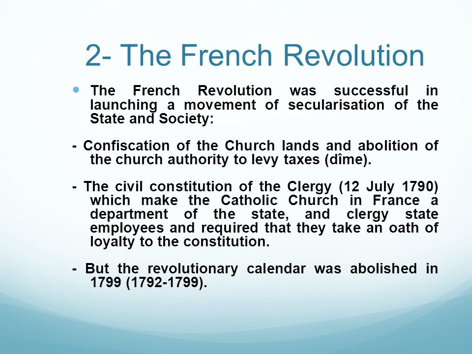 2- The French Revolution