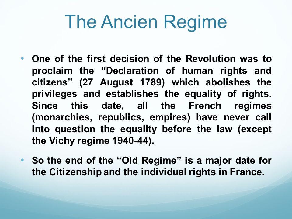 The Ancien Regime